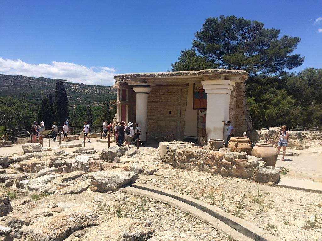 sito di Cnossos da vedere a Creta con i bambini