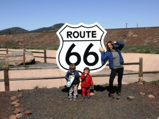 bambini sulla route 66