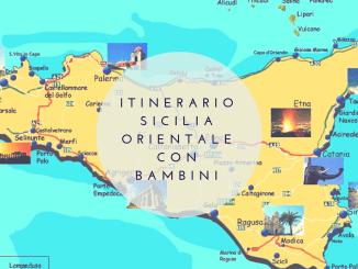 mappa della sicilia per un itinerario sicilia orientale con bambini