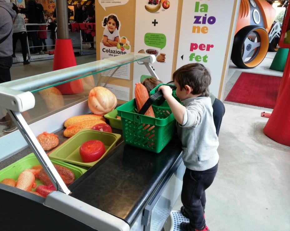 educazione alimentare al museo dei bambini di Roma