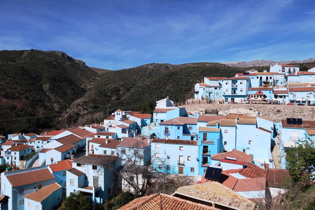case blu del villaggio dei puffi in andalusia