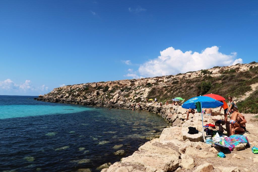 spiaggia di Cala Azzurra a Favignana