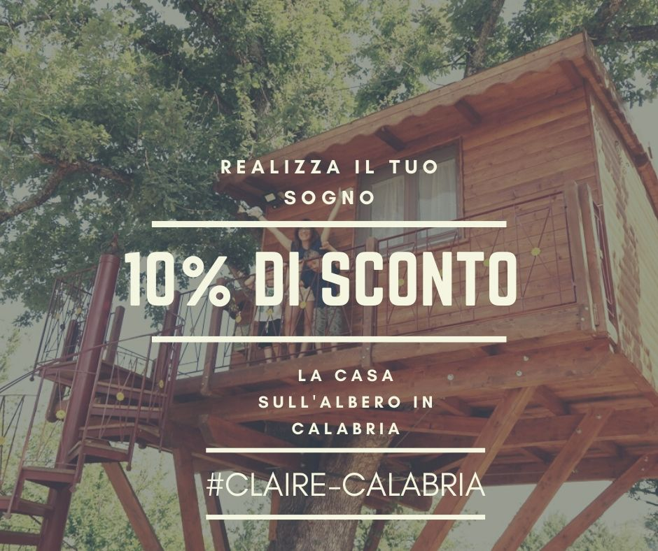 coupon sconto per casa sull'albero in Calabria