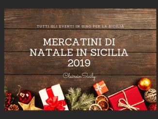 locandina mercatini di Natale in Sicilia