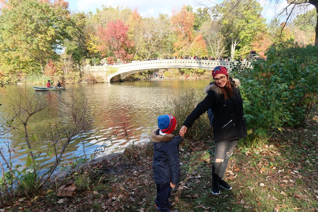 mamma e figlio a Central Park New York