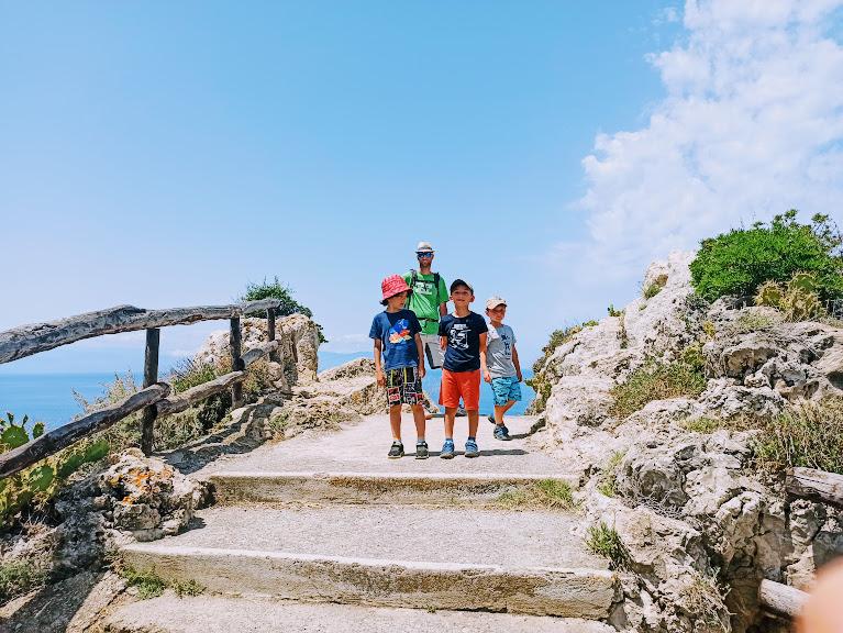 scale del sentiero piscina di milazzo