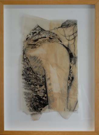 """Claire Marsh, 2012, """"Flora"""", indian ink on sewing paper"""