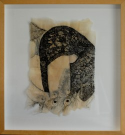 """Claire Marsh, 2012, """"Fauna"""", indian ink on sewing paper"""