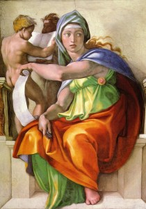 La Sibylle de Delphes, peinte par Michel-Ange