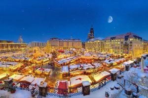Marché de Noël à Dresde. Crédit photo: Torsten Hufsky