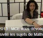 BAC 2013 : Section mathématique pour le BAC S avec MCE