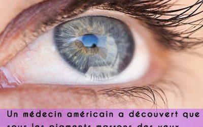 Le saviez-vous? Vos yeux marrons sont bleus en réalité!