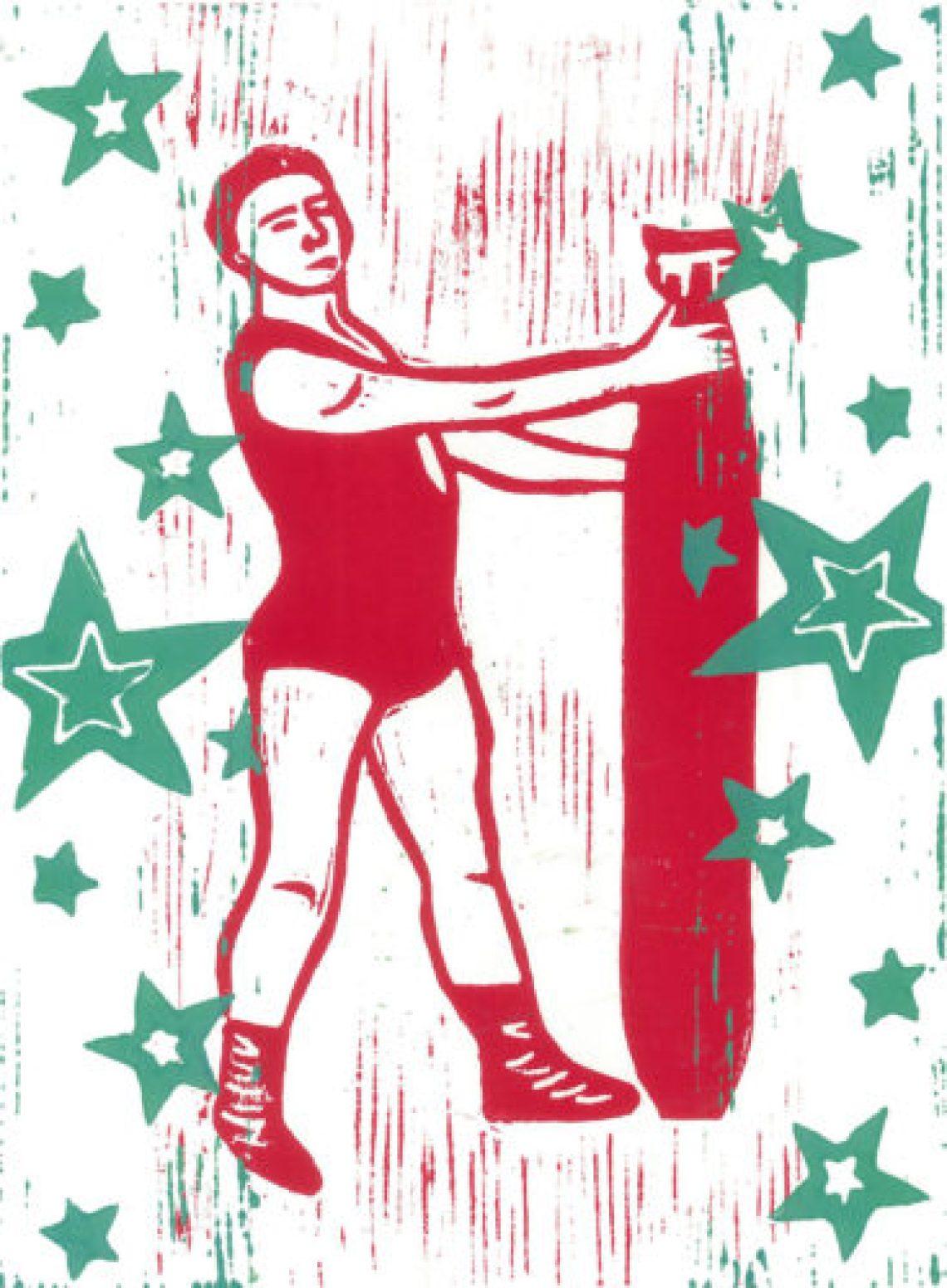 L'Homme à l'obus # red & green