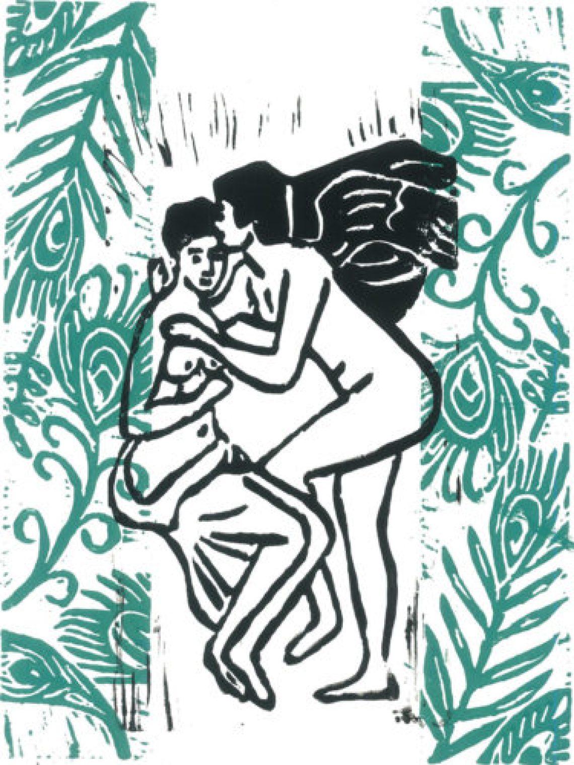Amour et Psyché # green & black