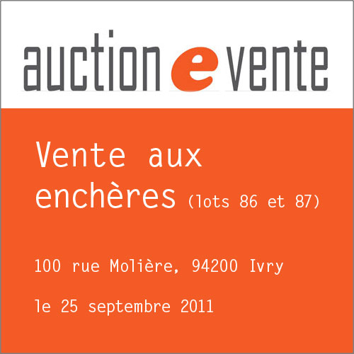 Vente Auction septembre 2011