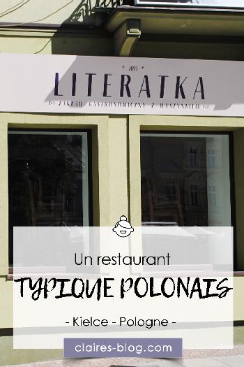 Un restaurant typique polonais à Kielce - Pologne #pologne #kielce #voyage #europe #restaurant #literatka