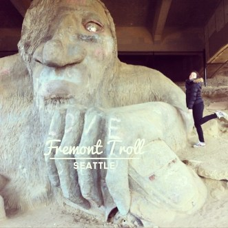 fremont troll seattle statue monstre