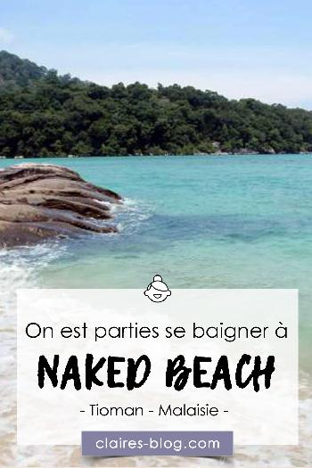 On est parties se baigner à Naked Beach - Malaisie - Tioman #nakedbeach #tioman #malaisie #voyage