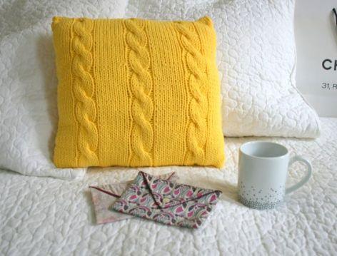 coussins en laine diy
