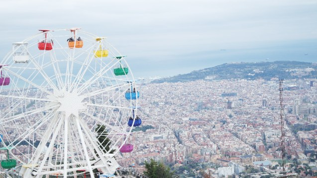 Barcelone-Espagne-parc d'attraction tibidabo