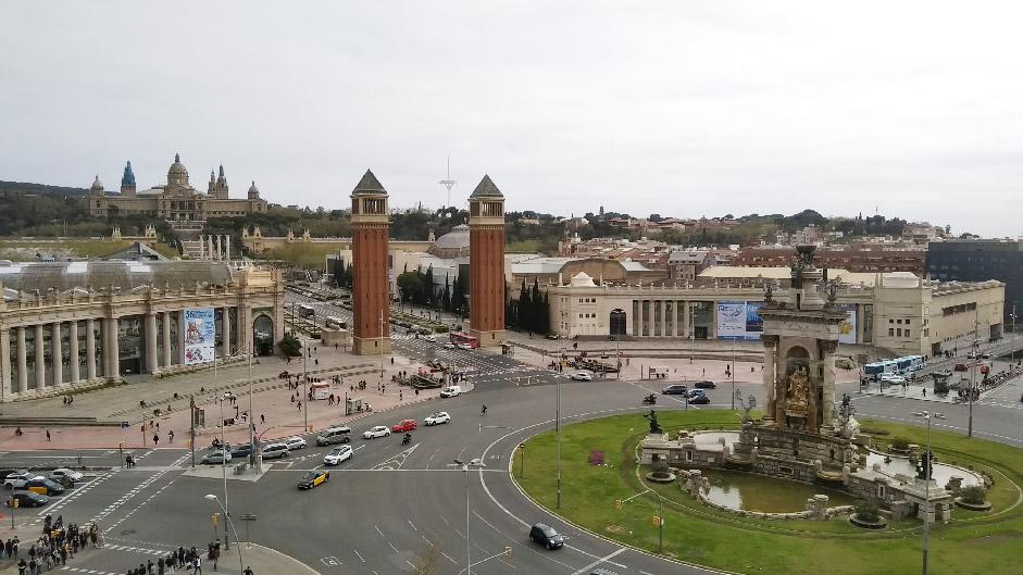Barcelone-Espagne-plaza espanyol