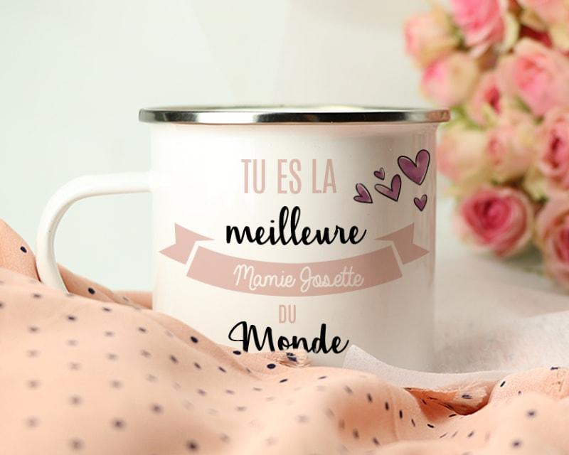 mug-emaille-tu-es-la-meilleure-1-fete des mères
