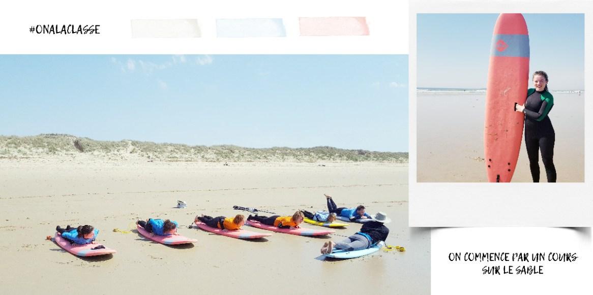 cours de surf à quiberon - bretagne