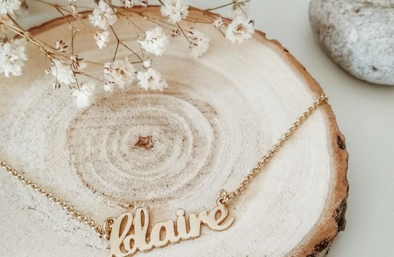 Onecklace bijoux personnalisés prénom