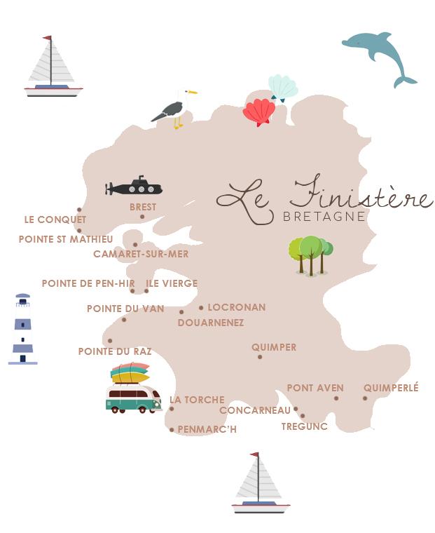 carte Finistère