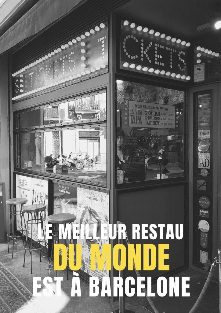 meilleur restaurant du monde tickets barcelone