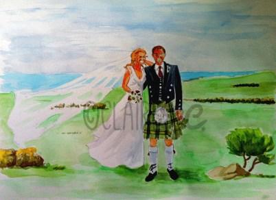 cadeau de Mariage personnalisé (aquarelle)