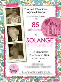 Invitation 85 ans