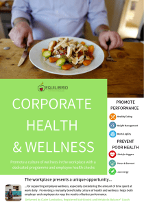 Create a culture of health & wellness in the worplace