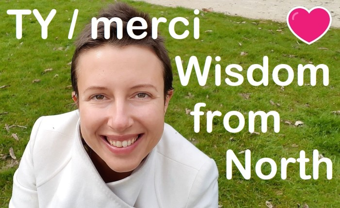 Thank you Jannecke Øinæs from Wisdom from North #feelgood youtube channel