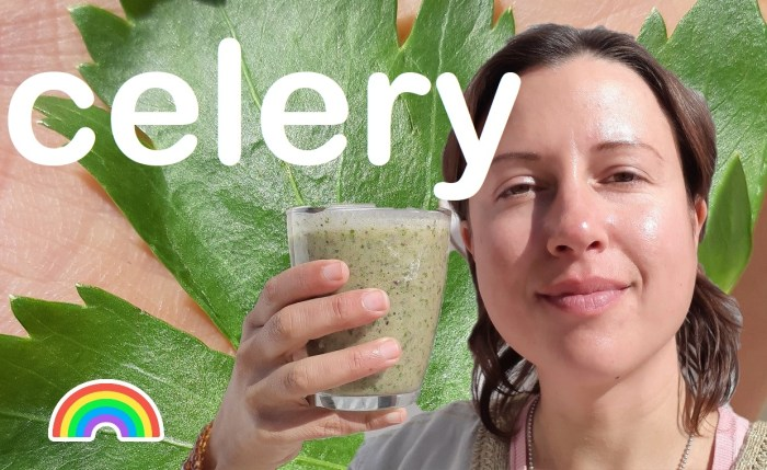 Can I make a #smoothie with #celery? Yes indeed!