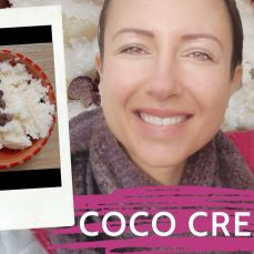 How to make #raw nondairy #coconut #cream or I test Cara's recipe