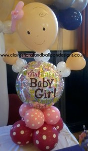 Baby girl balloon character