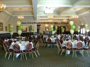 Corporate 3 balloon bouquet tablecentres