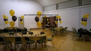 30th birthday 3 balloon table centres and doorway arch