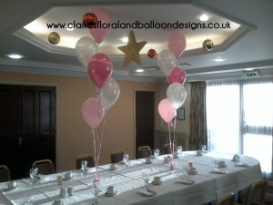 5 latex balloon table bouquets