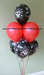 7 latex pirate theme balloon bouquet