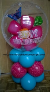 Air filled birthday balloon column
