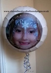 Personalised photo balloon