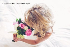 Peony and rose bridesmaid bouquet