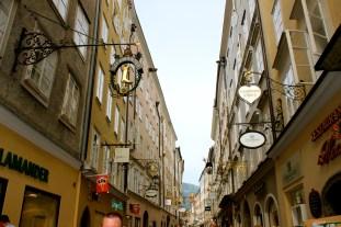 Getreidegasse street - ironwork signs