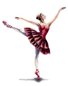 watercolor of ballerina