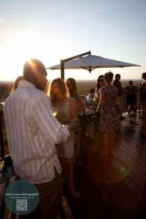 Sundowners at on the terrace on Friday night.