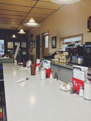 Bar area & kitchen