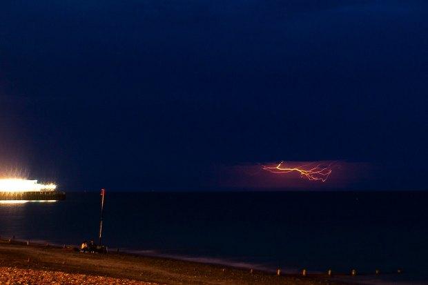 Lightning at Worthing Beach