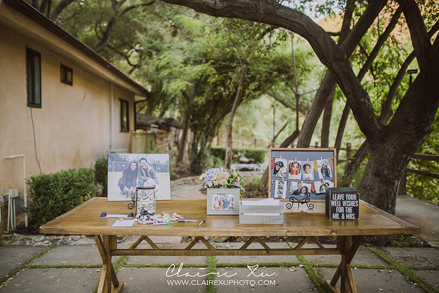 Oak Canyon Ranch Wedding Welcome Table
